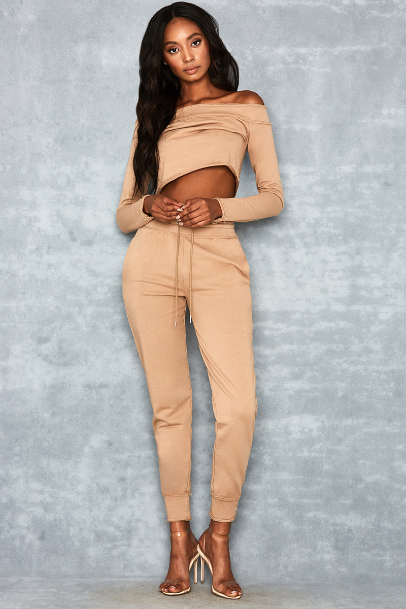 Tumble Camel Raw Edge Two Piece Tracksuit