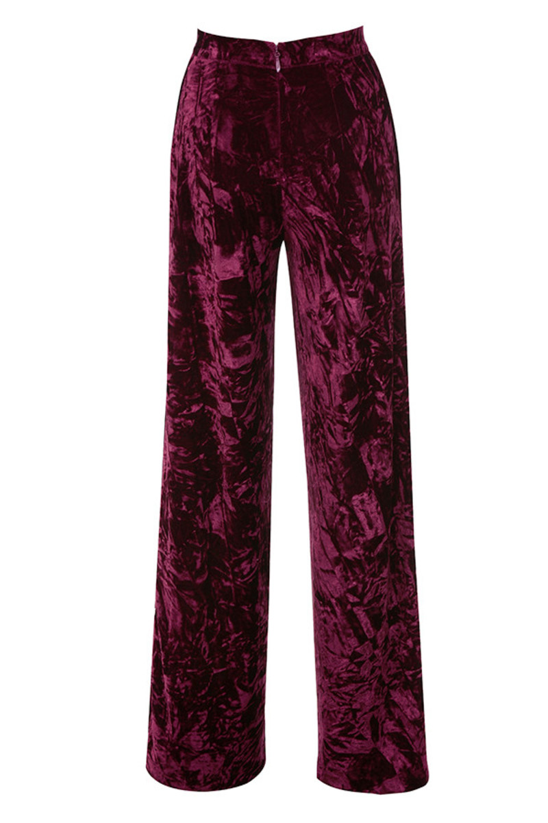 valiant trousers in burgundy