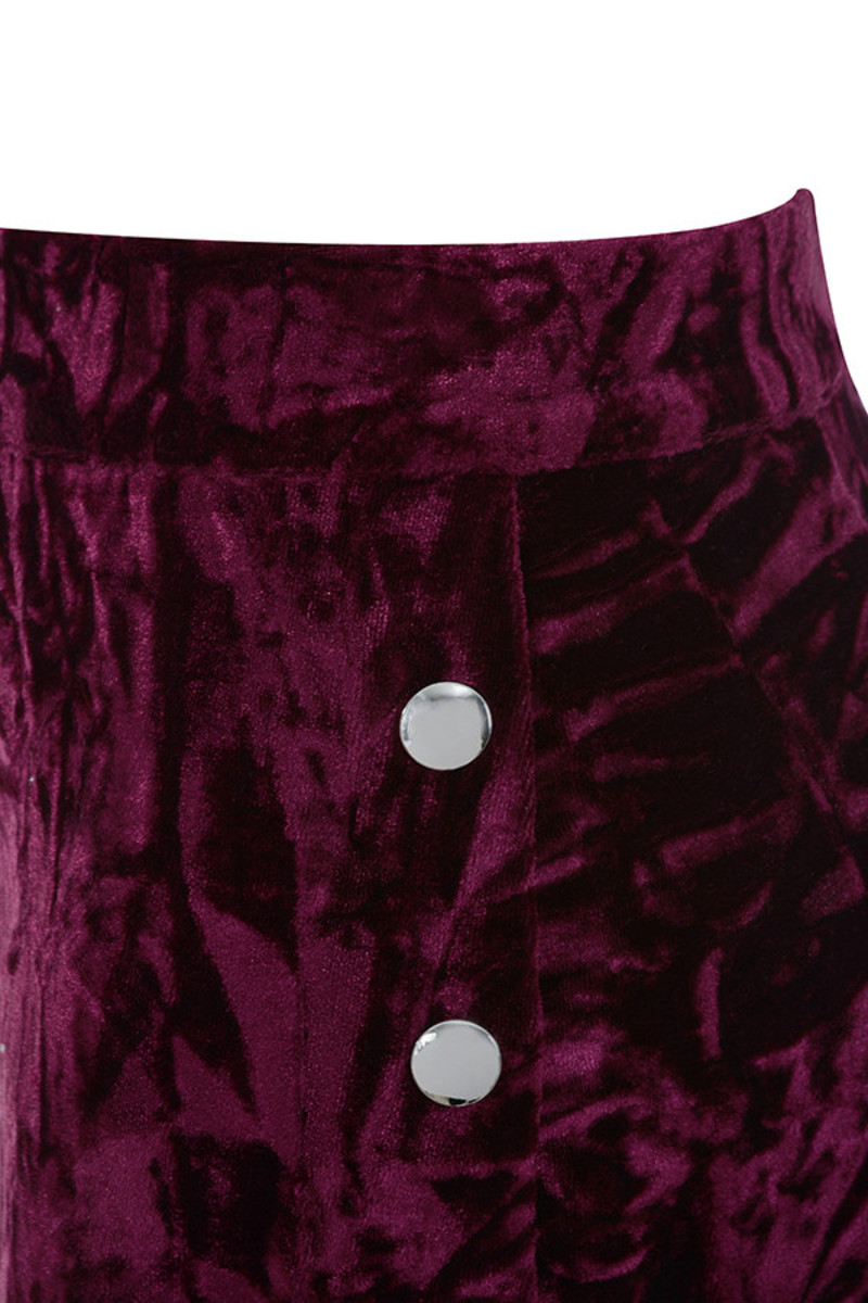 burgundy valiant trousers