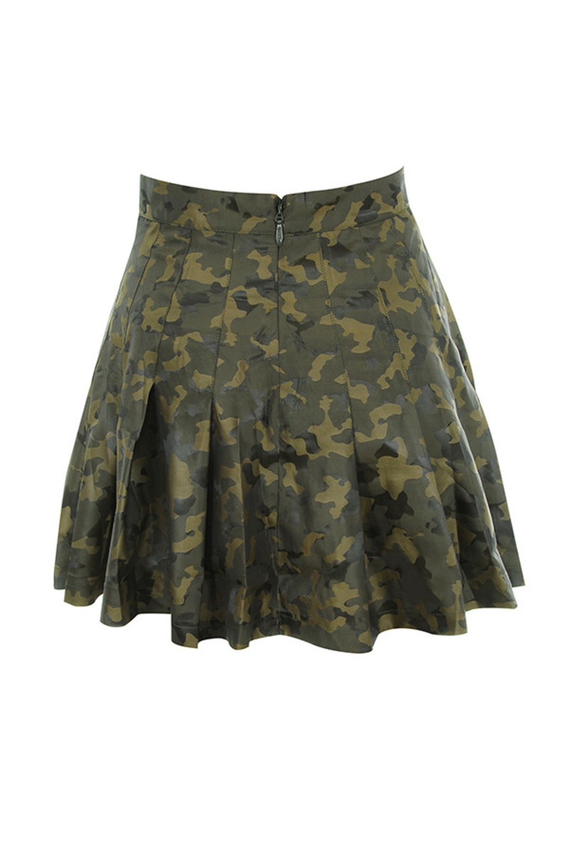 vice skirt in khaki