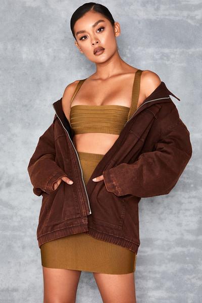 Suave Chocolate Denim Worker Jacket