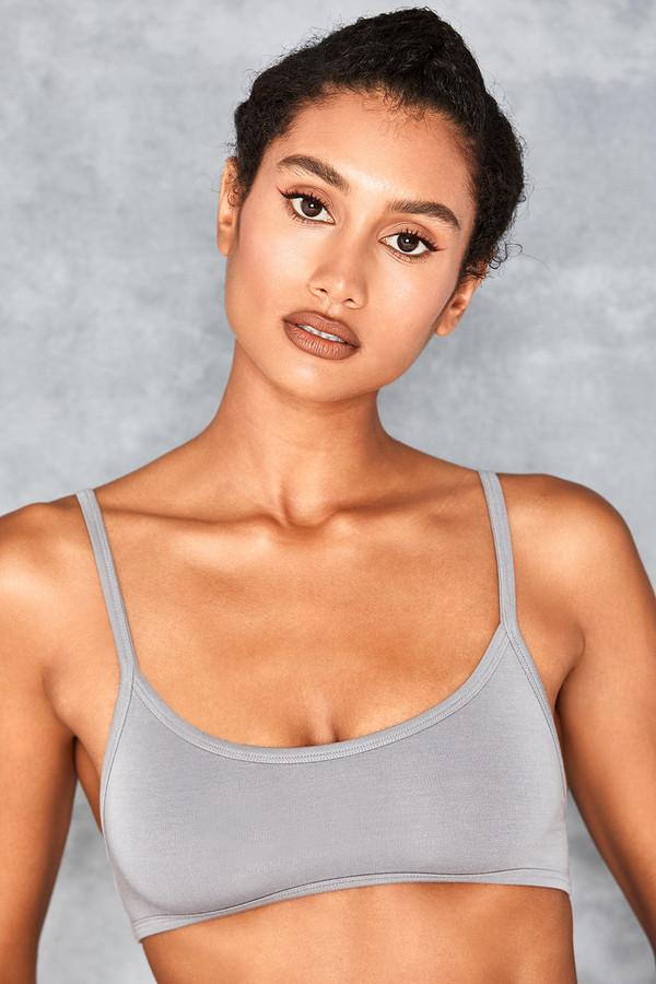 Beaut Grey Extreme Crop Bralette