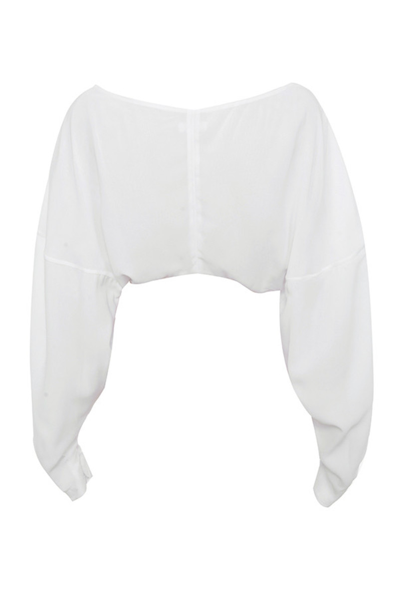 addict top in white