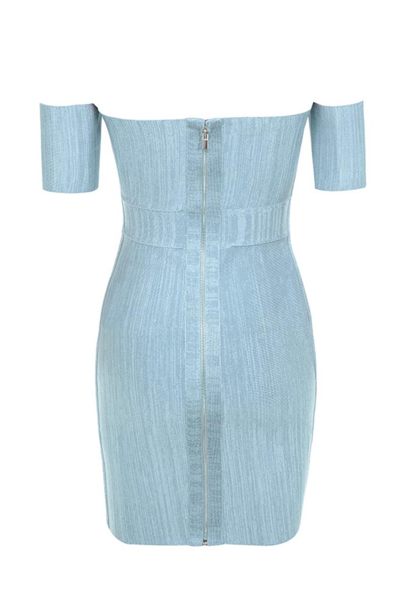 carousel dress in blue