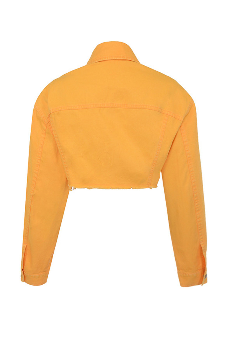 enrich jacket in tangerine