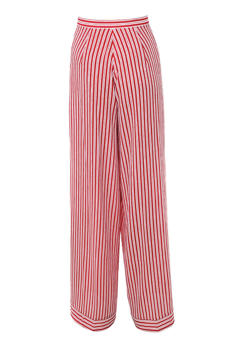 eye candy trousers in red