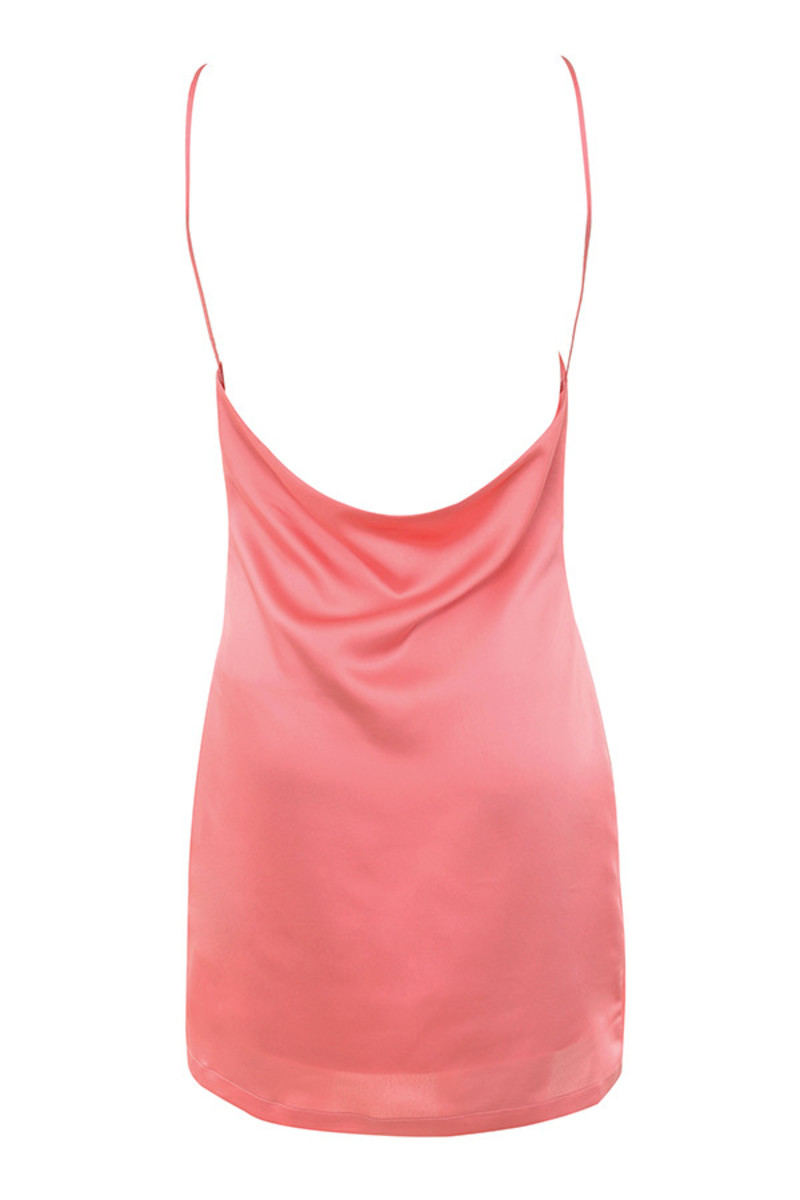 free flow dress in coral
