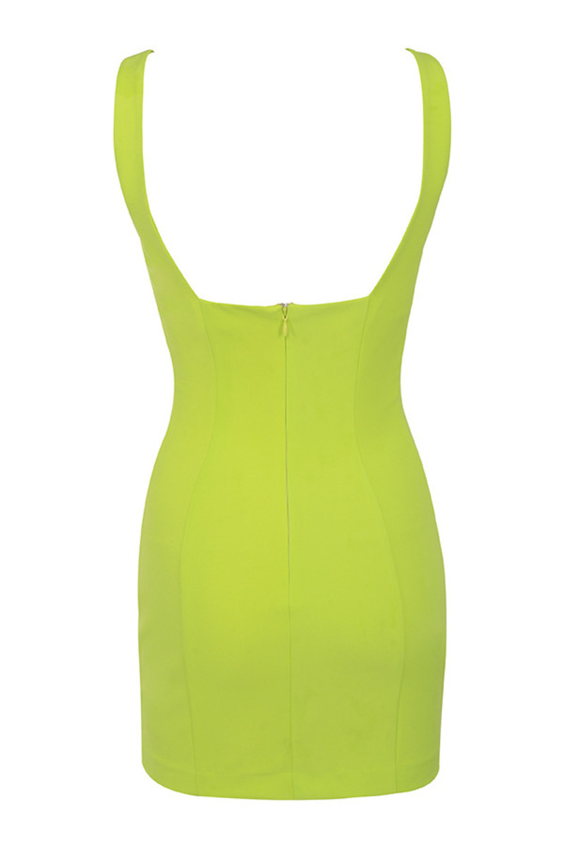 memory dress in lime