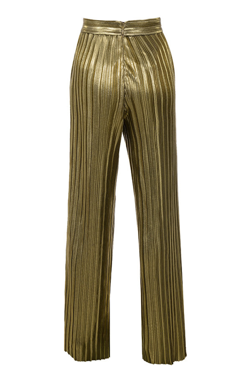 shimmy trousers in gold