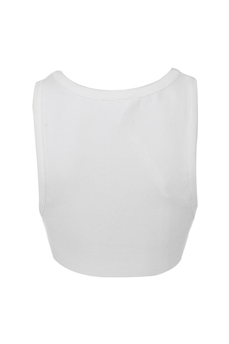 warrant top in white